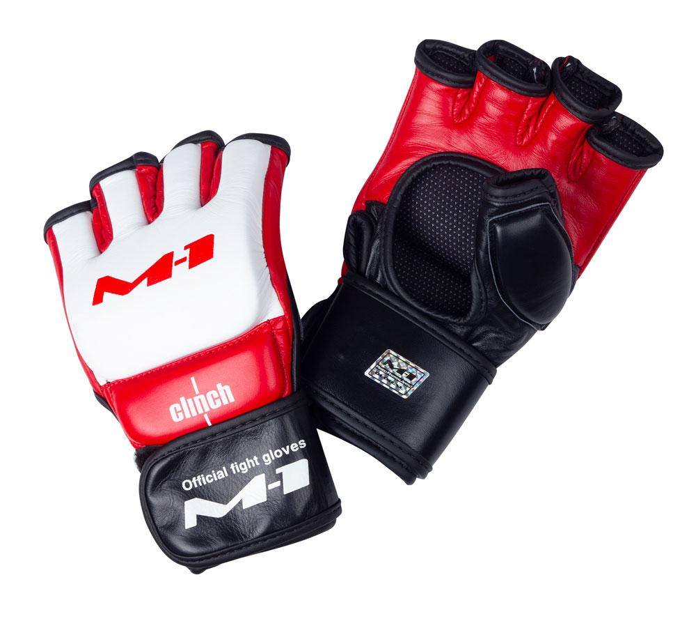 Перчатки для смешанных единоборств Clinch M1 Global Official Fight Gloves бело-красно-черные XXL, артикул C688
