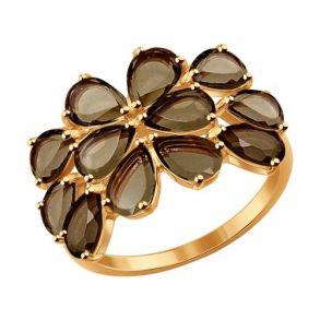 Кольцо из золота с раухтопазами 714299 SOKOLOV
