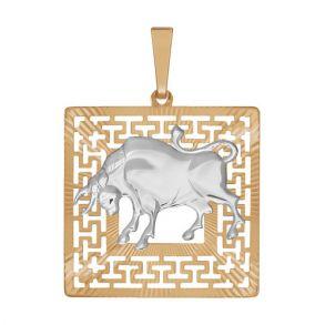 Подвеска «Знак зодиака Телец» с алмазной гранью 032291 SOKOLOV