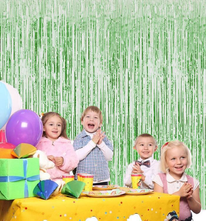 Новогодний дождик Штора, 2 м х 1 м, цвет зеленый