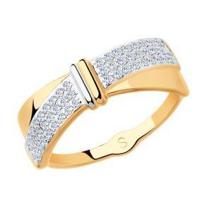 Кольцо из золота с фианитами 018150 SOKOLOV