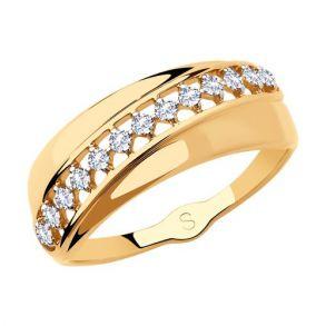 Кольцо из золота с фианитами 018189 SOKOLOV