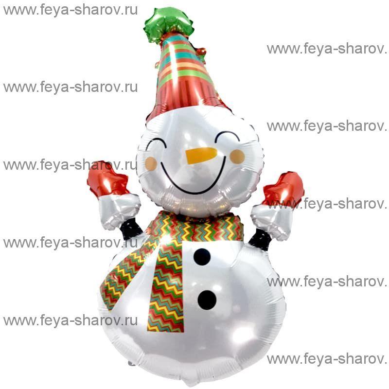 Шар Веселый снеговик 99 см