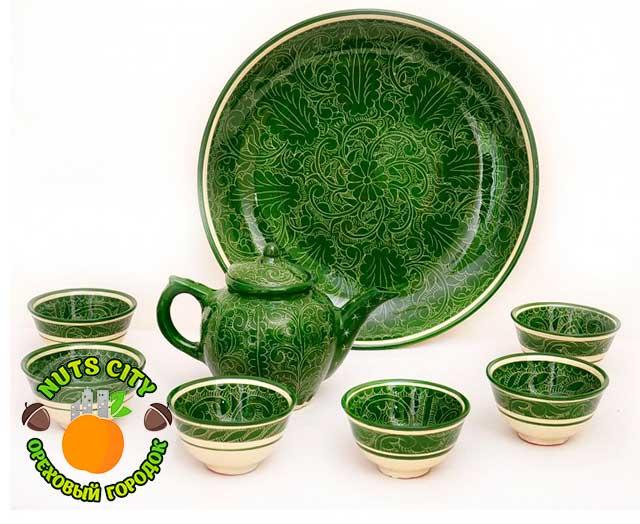 """набор чайный сервиз """"Зеленый Сад"""""""