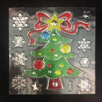 Набор новогодних наклеек Room Decor Новогодняя ёлка, 21х15 см (1)