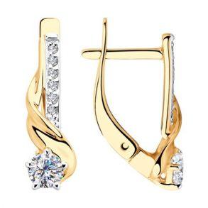 Серьги из золота с фианитами 028182 SOKOLOV