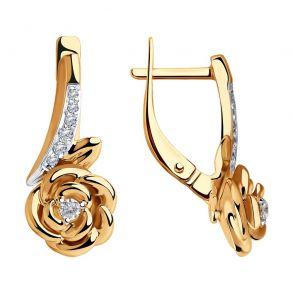 Серьги из золота с фианитами 028250 SOKOLOV
