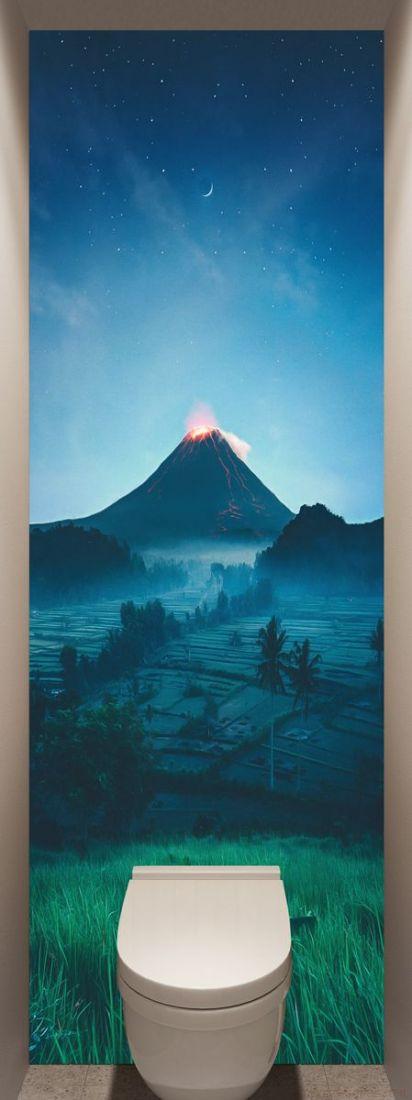 Фотообои в туалет - Подножие вулкана