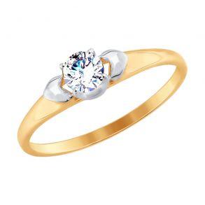 Кольцо из золота со Swarovski Zirconia 81010385 SOKOLOV