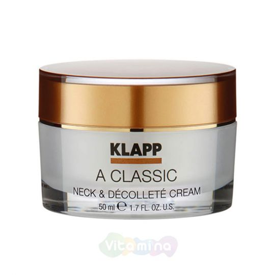 Klapp Крем для шеи и декольте A Classic Neck & Decollete Cream, 50 мл