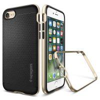 Купить оригинальный чехол Spigen Neo Hybrid для iPhone 7 золотой противоударный чехол для Айфон 7 в Москве в интернет-магазине аксессуаров для смартфонов Elite-Case.ru