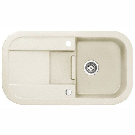 Кухонная мойка Marmorin Laver White 1.5 чаши со сливной полкой 510 513 006