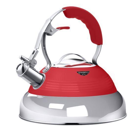 Чайник со свистком MAUNFELD MRK-119R красный