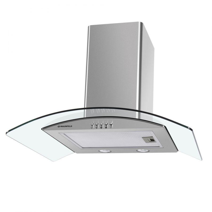 Кухонная вытяжка MAUNFELD Ancona PlusA 50 нержавеющая стальпрозрачное стекло