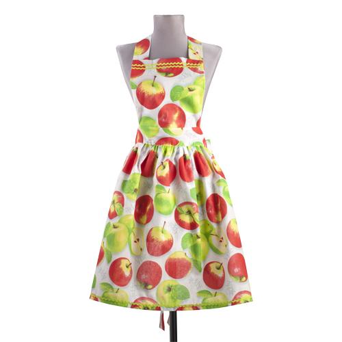 """Фартук """"Яблочное угощение"""" с поясом, бязь"""