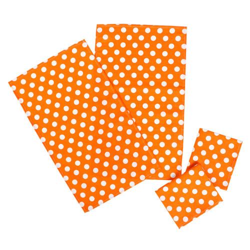 """Набор полотенец """"Ассорти-Горошек оранжевый"""" рогожка, (4шт-35х60)"""