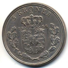Дания 5 крон 1966