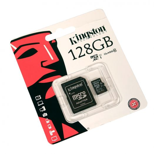 Карта памяти Kingston MicroSD 128Gb Class 10 Ultra Android UHS-I (80 Mb/s) с SD адаптером