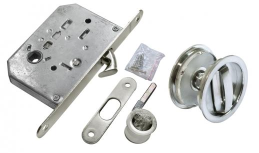 Комплект для раздвижных дверей Morelli MHS-1 WC SC Цвет - Матовый хром