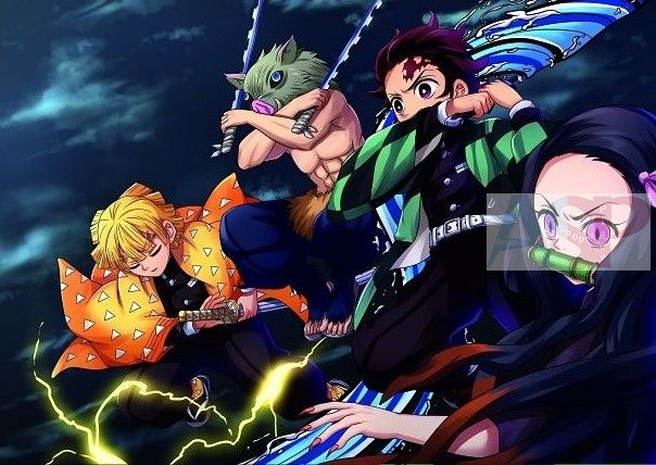 Плакат Demon Slayer Kimetsu no Yaiba
