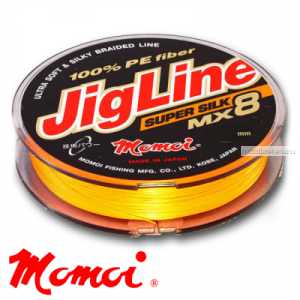 Леска плетеная Momoi JigLine Super Silk MX8 100 м / цвет: оранжевый
