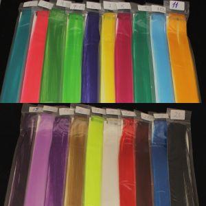 `Прядь волос на заколке(искусственные), длина 50см, ширина 3,2см, цвет №10 голубой