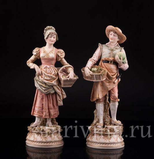 Изображение С рынка, пара, Royal Dux, Богемия, нач. 20 в.