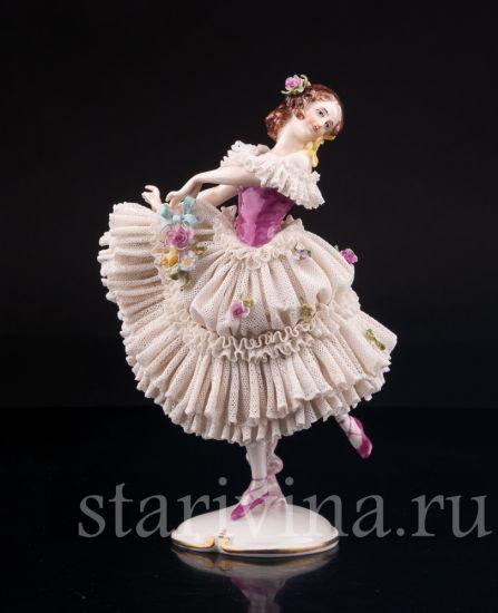 Изображение Танцующая девушка, кружевная, Volkstedt, Германия, сер. 20 в.