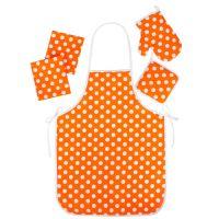 """Набор для кухни """"Ассорти-Горошек оранжевый"""" (5 предметов)"""