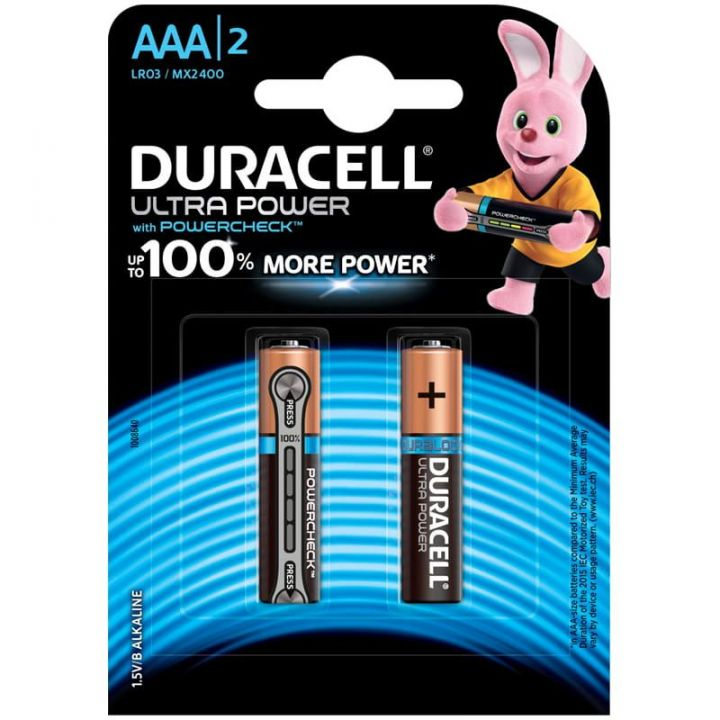 Батарейки DURACELL UltraPowerза ААА 2шт за 1шт
