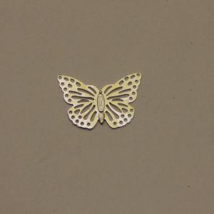 "Декоративный элемент ""филигрань"" бабочка 20х29 мм, цвет серебро (1уп = 50шт)"