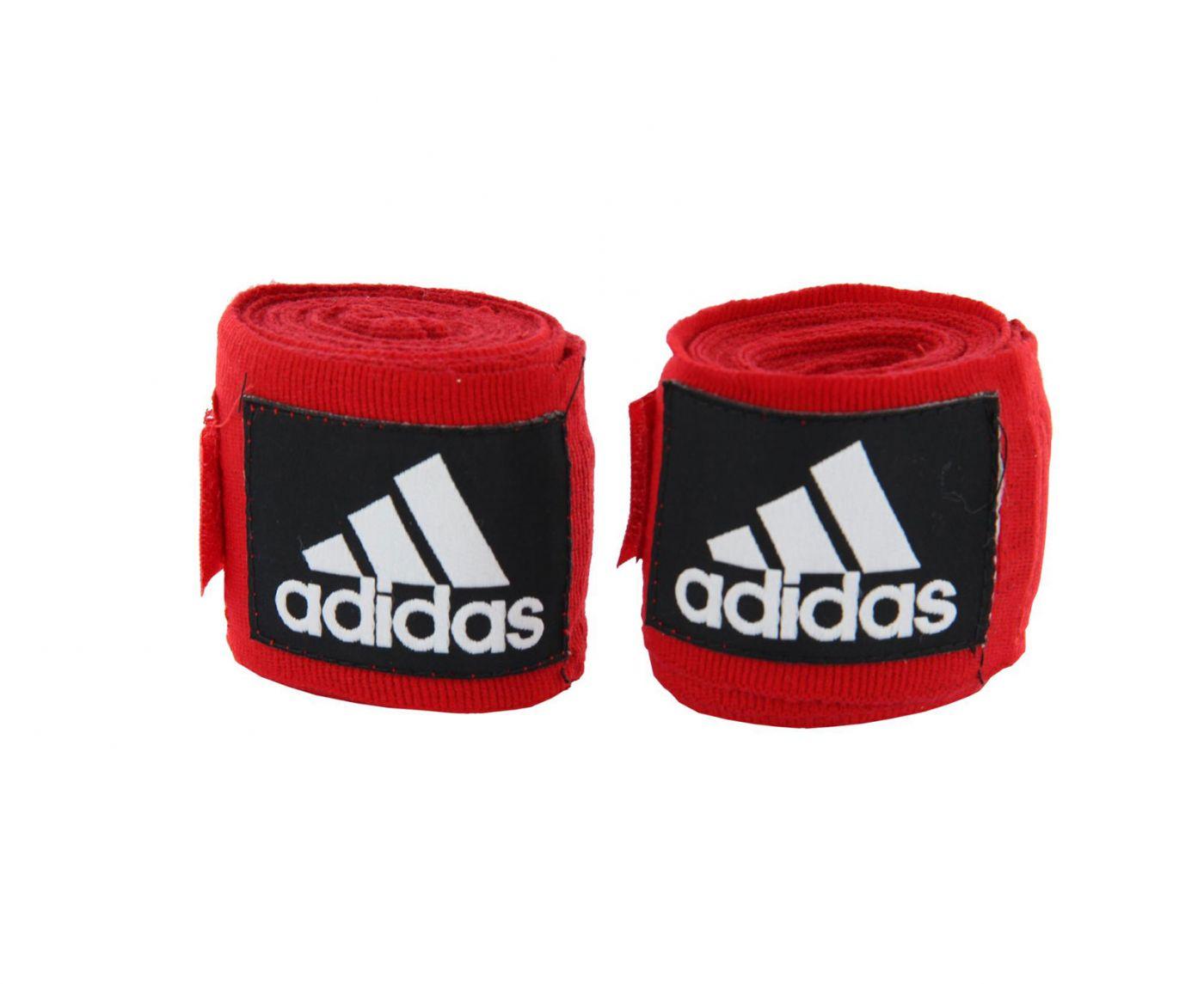 Бинты эластичные Adidas AIBA New Rules Boxing Crepe Bandage красные, 3.5м, adiBP031