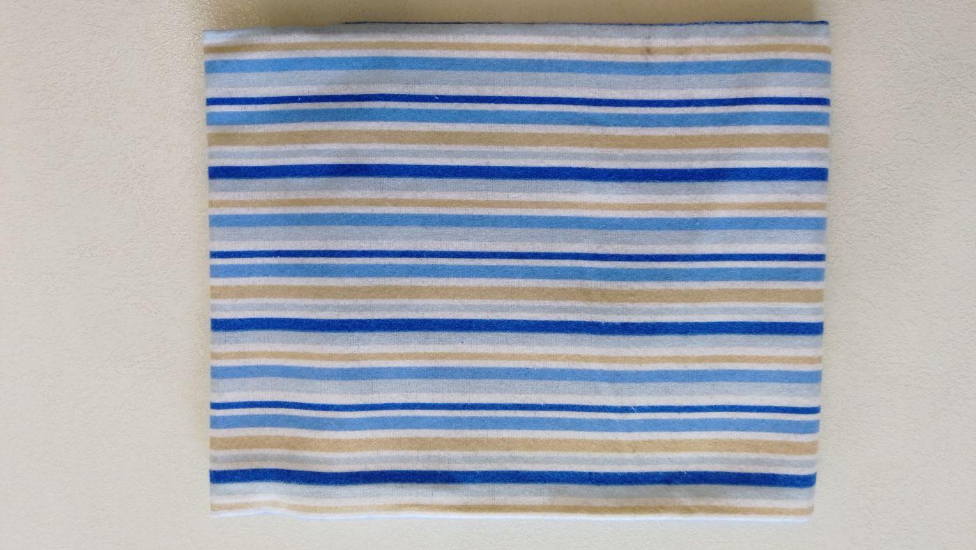 Пеленка Hudson Baby сине-коричневые полосы 76х91 см