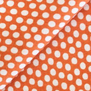 Ткань Хлопок Горох на оранжевом 50x40