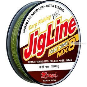 Леска плетеная Momoi JigLine Fast Sink MX8 100 м / цвет: хаки