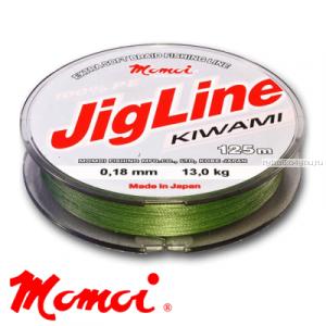 Леска плетеная Momoi JigLine Kiwami 125 м / цвет: хаки
