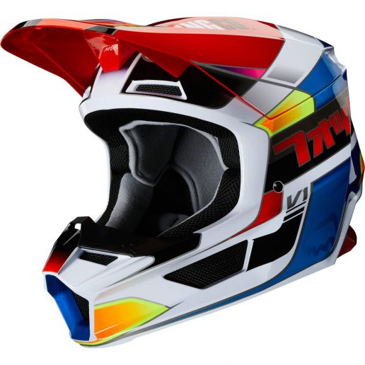 Fox V1 Yorr Blue/Red шлем, сине-красный