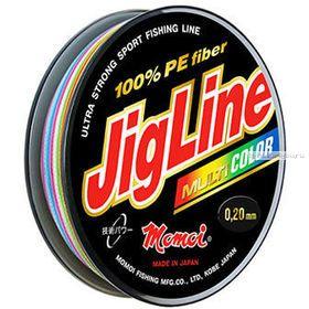 Леска плетеная Momoi JigLine Multicolor 100 м / цвет: мультиколор