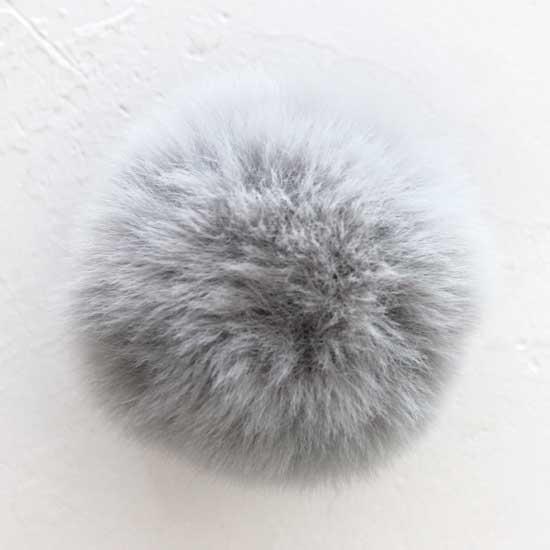 Помпон серый, 7 см  (искусственный)