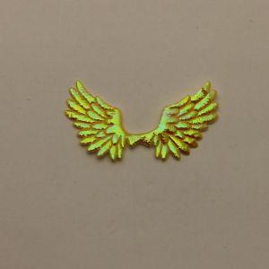 "Патч ""Крылья"", 70*35 мм, цвет желтый (1уп = 25шт)"
