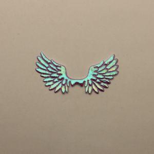"""Патч """"Крылья"""", 70*35 мм, цвет сиреневый (1уп = 25шт)"""