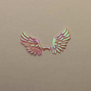 """`Патч """"Крылья"""", 70*35 мм, цвет светло-розовый (1уп = 5шт)"""