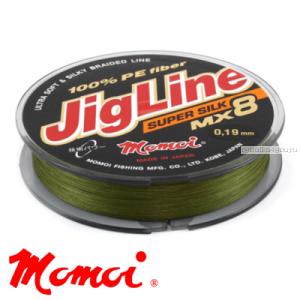 Леска плетеная Momoi JigLine Super Silk MX8 100 м / цвет: хаки