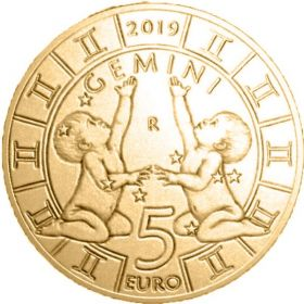 Знак Зодиака Близнецы 5 евро Cан-Марино 2019 на заказ
