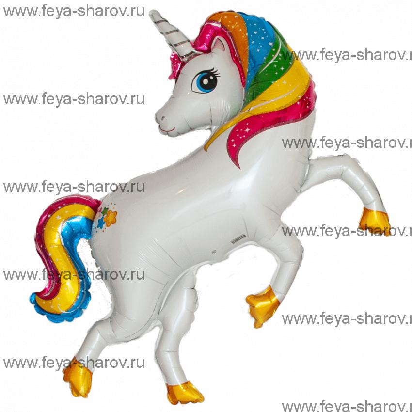 Шар Радужный Единорог 107 см