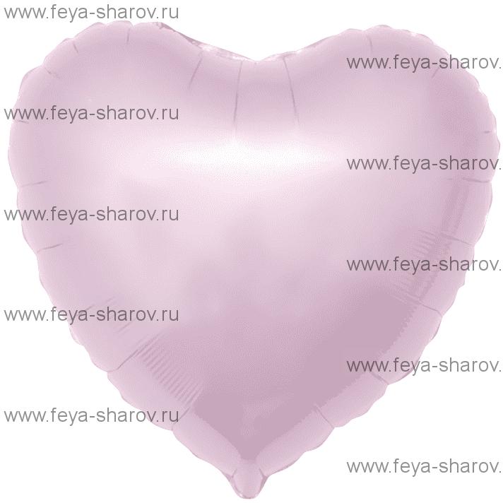 Шар Сердце светло-розовый 46 см