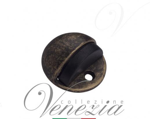 Ограничитель дверной напольный Venezia ST4 античная бронза