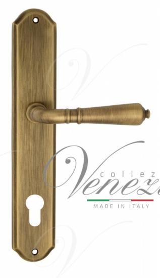 Дверная ручка Venezia VIGNOLE CYL на планке PL02 матовая бронза