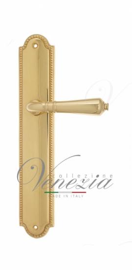 Дверная ручка Venezia VIGNOLE на планке PL98 полированная латунь