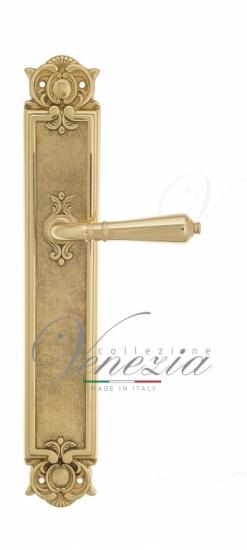 Дверная ручка Venezia VIGNOLE на планке PL97 полированная латунь